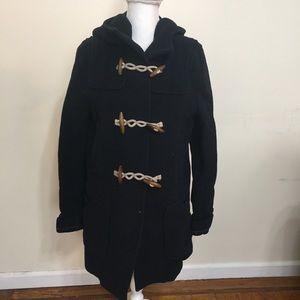 TopShop Coat Womens Size 8 Ribbed Blue Pockets
